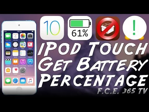 iOS 10 - iPod Touch - How to Enable Battery Percentage (No Jailbreak)