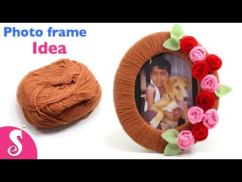Photo Frame Idea | Make easy Photo Frame using Woolen,Cardboard & Waste Clothe | Best out of waste