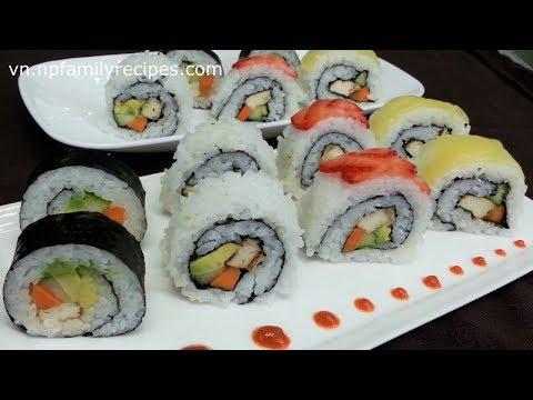Cách làm Sushi Chay ngon đơn giản dành cho người ăn chay