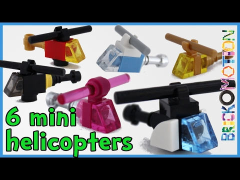 6 ways to build a mini LEGO helicopter