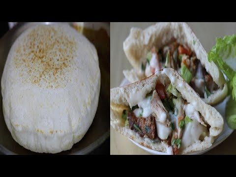 Pita Bread Recipe and Sandwich/How To Make Pite Bread--Cooking A Dream