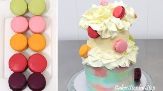 Marble Buttercream  Macarons Cake - Easy To Make by Cakes StepbyStep