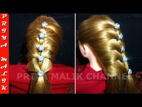 Easy Party Braid Hairstyle - French Braid Hair Tutorial | Priya Malik