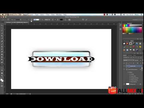 Create Shiny Effect Download Button - Photoshop Tutorial/Guida