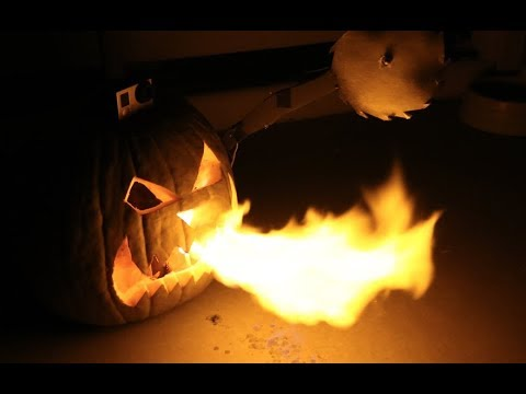 DIY Fire Breathing Pumpkin! (Remote Control)
