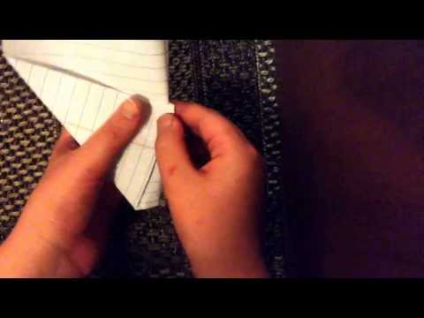How  to make a slow glider paper airp