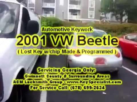 Locksmith in Atlanta GA: 2001 VW Beetle - Lost Key Made From Scratch & Programmed!