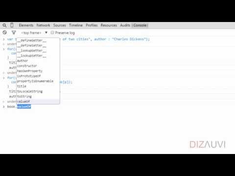 Javascript tutorial :: Objects & Arrays :: Object properties (25/65)