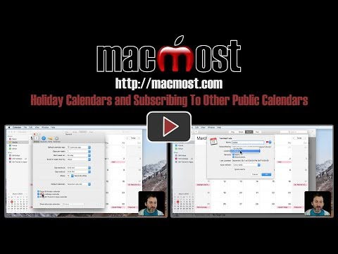 Holiday Calendars and Subscribing To Other Public Calendars (#1609)