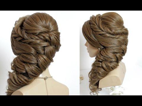 Pakistan  bridal hairstyle for long hair tutorial.