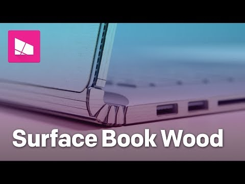 Bringing a wood finish to the Surface Book 2