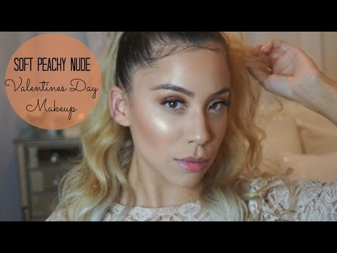 VALENTINES DAY : SOFT PEACHY NUDE MAKEUP