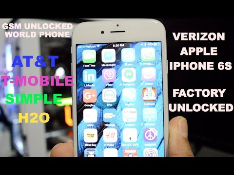 Verizon iPhone 6S Factory Unlocked Works With T-Mobile/AT&T/Simple Mobile/H2o Wireless