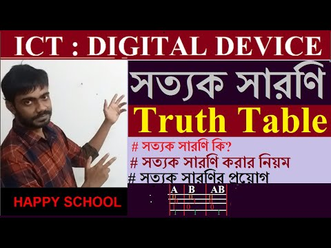 Concepts Of Truth Table | HSC ICT Bangla Tutorial
