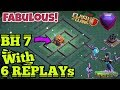 Download 6 REPLAYs !! BEST BH7 BASE 2019 !! EASY PUSH TO 5000 TROPHY BUILDER HALL 7 BASE REPLAY PROOF MP3,3GP,MP4