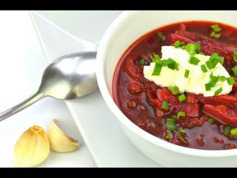 Vegetarian Borscht (Борщ) | Authentic Russian Beet Soup Recipe