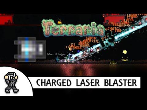 Terraria 1.3 CHARGED BLASTER CANNON (laser blaster) - DESTROYER SPEEDKILL