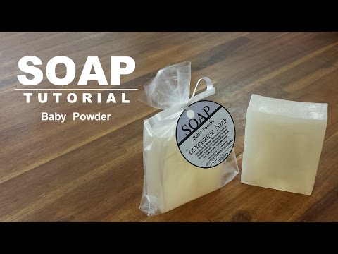 Baby Powder Scented Melt and Pour Soap