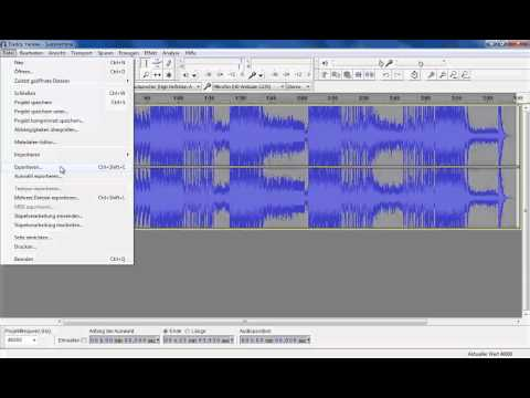 How To: Bass Boosts selber machen mit Audacity 2.0.3