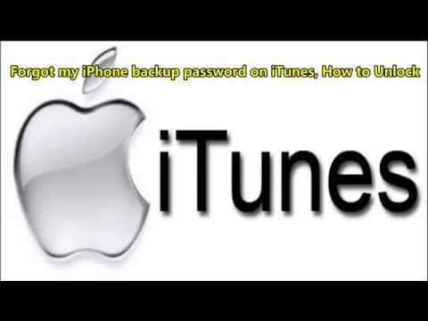 Forgot my iPhone backup password on iTunes, How to Unlock
