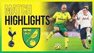 HIGHLIGHTS Tottenham Hotspur 2 1 Norwich City Late Son Heung min Goal Stops City Earning A Point