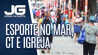 Rio libera esporte no mar, CT e igreja amanhã