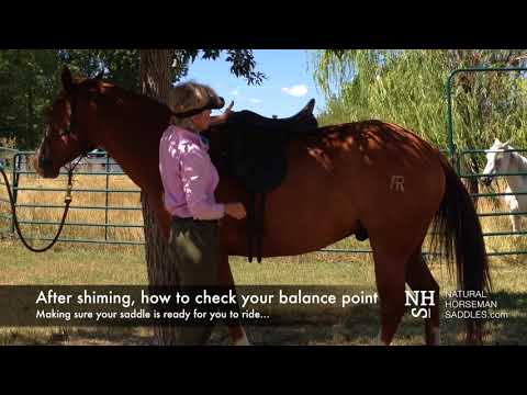 How to check your saddle's balance point