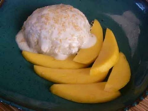 Thai Sticky Rice with Mango - Thai Dessert Recipe Video