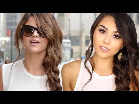 SELENA GOMEZ INSPIRED SIDE BRAID with BELLAMI BALAYAGE BY GUY TANG EXTENSIONS