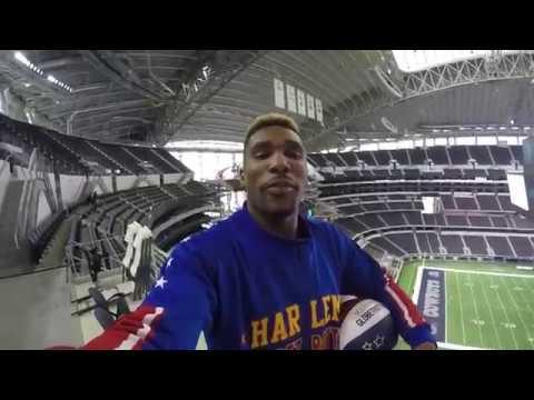 AT&T Stadium Trickshots | Harlem Globetrotters