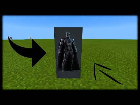 Minecraft PE | How to Make a Batman Banner