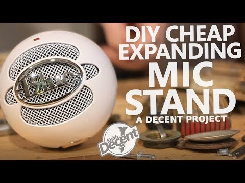 DIY EXPANDING MICROPHONE STAND - a Decent project