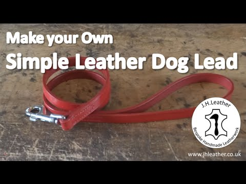 How To Make A Simple Handmade Leather Dog Lead