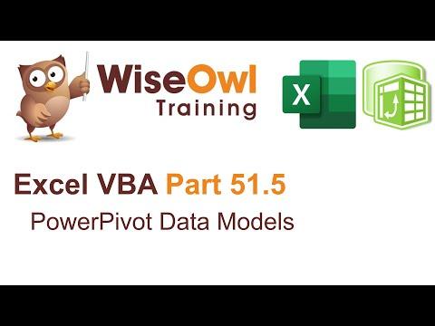 Excel VBA Introduction Part 51.5 - PowerPivot Data Models
