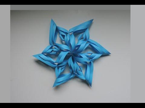 How To Make A 3D Paper Snowflake. Origami / Kirigami (DIY)