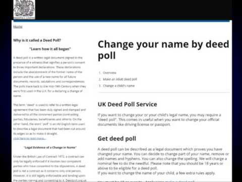 Who  Can Change a Childs Name By Deed Poll