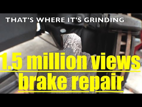 GRINDING NOISE Front brake pad Replacement RESURFACE Rotors DODGE CALIBER √ Fix It Angel