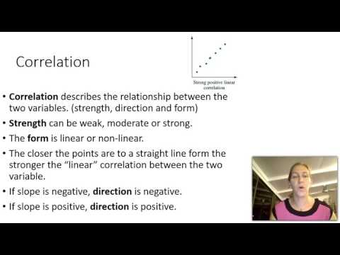 How to make scatter plots and describing correlation