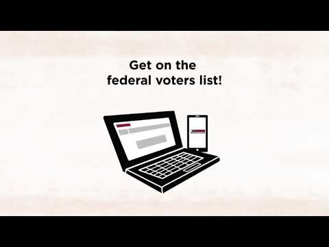 Elections Canada—First-time voter online registration