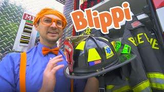 Blippi and The Fire Truck | 1 Hour of Blippi | Learning Trucks For Kids