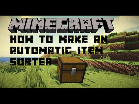 Minecraft Tutorial: How to make a Automatic Item Sorter