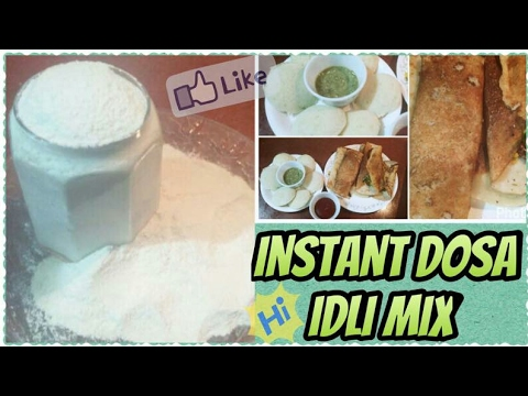 How to Make Instant Dosa at Home |  Idli Mix  Dosa batter | Cook with Monika