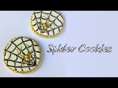 How To Make A Spider With Royal Icing