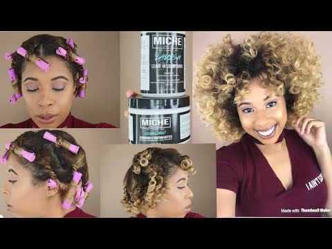 Three Strand Twist And Curl tutorial /Using Miche Products