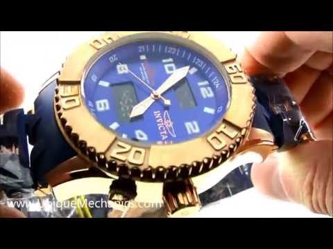 Invicta Sea Spider Watch Review 5686 Rose Gold Plated Polyurethane Strap