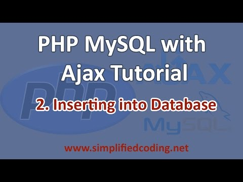 2. PHP MySQL with AJAX Tutorial - Inserting Into Database