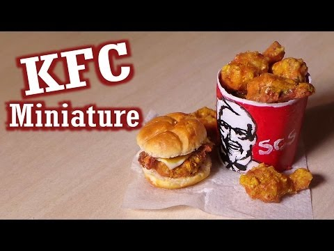Polymer Clay Tutorial; KFC Inspired Miniature Food