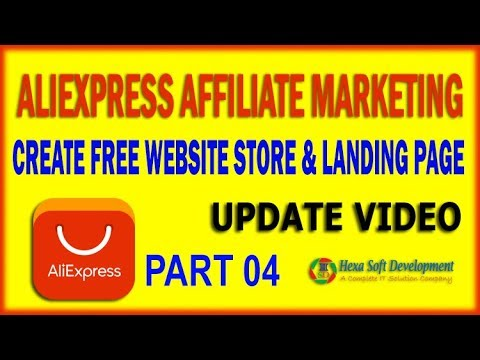 How to crate Aliexpress Product Affiliate Sotre - Landing Page | Part 04