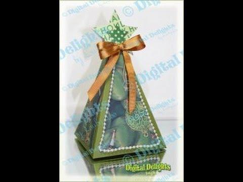 Christmas Tree Box SVG Cut File