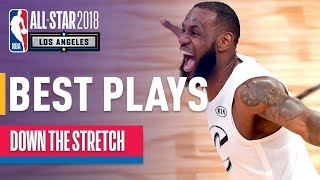 Team LeBron vs Team Stephen INTENSE 4th Quarter | 2018 NBA All-Star Game